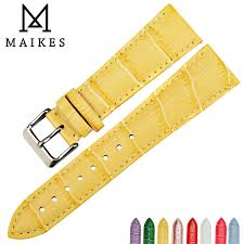 <b>MAIKES New design</b> watchband watch accessories yellow or gold ...