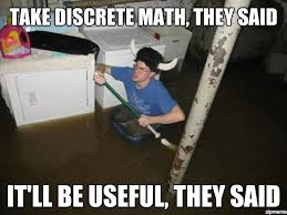 Laundry Room Viking | Take discrete math, they said It'll be ... via Relatably.com