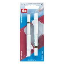 <b>Меловой карандаш</b> Prym со стирающей кисточкой, 11 см, белый ...