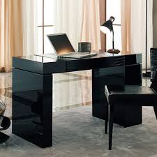 wall hunged black wooden desk awesome glass corner office desk glass