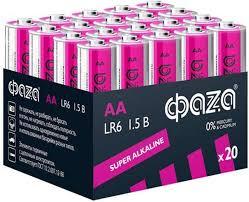 <b>Батарейка ФАZA</b> Super Alkaline, розовый, AA, 20 шт