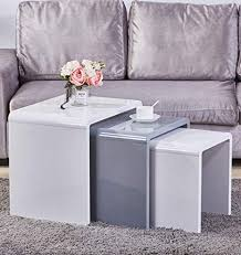 GOLDFAN Nest of 3 tables <b>High</b> Gloss <b>Coffee Table Set</b> | Airbnb ...