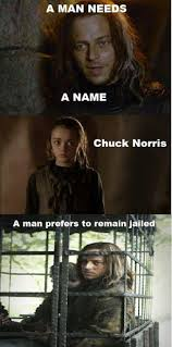 Chuck Norris Wins. | We Heart It | arya stark and game of thrones via Relatably.com