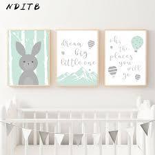Baby Nursery Wall Art <b>Canvas</b> Painting <b>Woodland Animal</b> Posters ...