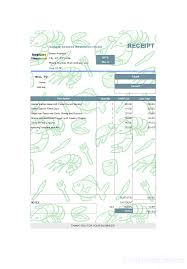 receipt template receipt sample for seafood restaurant