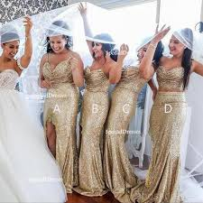 Mismatched <b>Sparkly Gold Sequin</b> Mermaid <b>Bridesmaid</b> Dresses ...