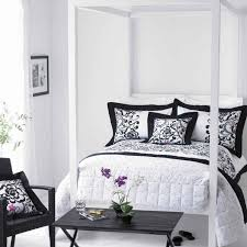 bedroom romantic black and white bed set for additional bedroom interior white polished metal canopy black white bedroom interior