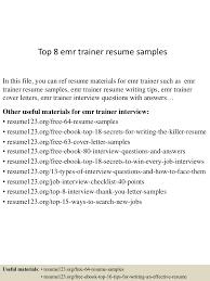 trainer resume examples aaaaeroincus inspiring unforgettable trainer resume examples topemrtrainerresumesamples lva app thumbnail