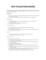 how to do good resume tk how to do good resume