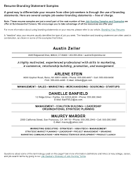personal statement examples resume resume mission statement personal statement examples resume resumes and personal branding resume innovations personal branding resume statement examples
