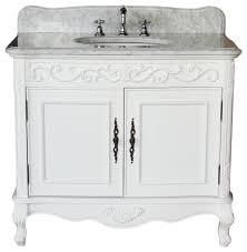 traditional style antique white bathroom: quot traditional antique style white carbone bathroom sink vanity carrara top traditional bathroom