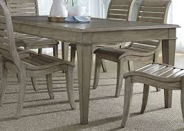 room table displays coaster set driftwood: grayton grove driftwood extendable rectangular leg dining table