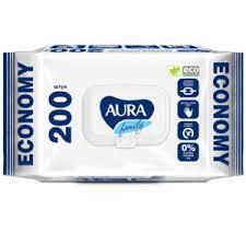 <b>Влажные очищающие салфетки</b> AURA Family ECONOMY ...