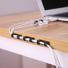 <b>20pcs</b>/<b>pack Self-adhesive Wire Organizer</b> Line Cable Clip Buckle ...