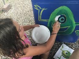 backyard activities music jam pueblo house chacee paints the eye