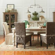 dining table parson chairs interior:  aberdeen table amp chairs with parsons chairs amp woven leaf chairs riverside