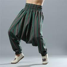 Men <b>Yoga Pants</b> Loose Wide Leg Cotton Linen <b>India</b> Nepal Male ...