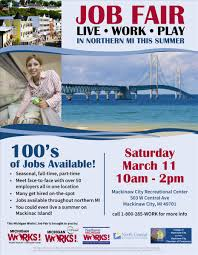mackinaw city job fair discover northeast michigan mackinaw job fair flyer jpg