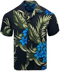 Tropical Luau Beach <b>Floral Print</b> Men's <b>Hawaiian</b> Aloha Shirt at ...
