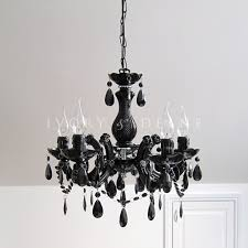 black vintage marie therese glass crystal chandelier arm light black crystal chandelier lighting