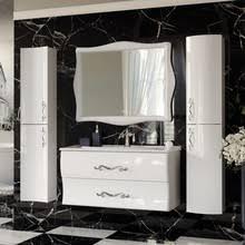 <b>Шкаф</b>-<b>пенал Aima Design</b> Amethyst 30П R white, выпуклый купить ...