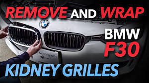 How to Remove, Take Apart and Wrap a BMW F30 Kidney <b>Grille</b> ...