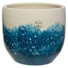 <b>Ваза</b> декоративная Decoris, керамическая, <b>синяя</b>, <b>21х19 см</b> ...