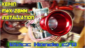 Keihin PWK <b>28mm Power Jet Carburetor</b> Installation - 122cc Honda ...