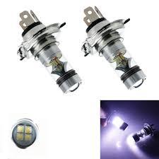 2 PCS <b>100W</b> H4 LED bulb 20 SMD Car Fog <b>light</b> 12V ~ 24V <b>360</b> ...