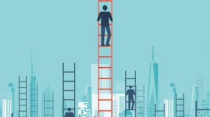 how to become a ceo raconteur climbing the career ladder illustration