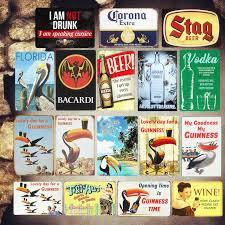 30*20cm Drink <b>BEER Vintage Metal Tin</b> Signs Bar Pub Casino ...