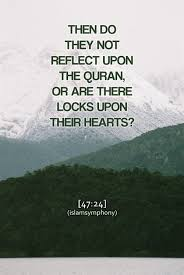 Image result for Will they not ponder.. Muhamad:24