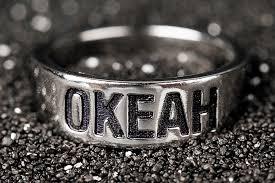 Купить <b>кольцо</b> с гравировкой, надписью ОКЕАН - <b>Waves</b> & <b>Gems</b>