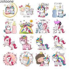 <b>ZOTOONE</b> Flower <b>Applique Cute</b> Animal Unicorn <b>Iron</b> on Transfers ...