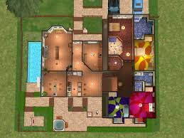 The Sims By Bissela    Floor plan   First   second floor