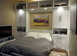 sophisticated bedroom interior design featuring smart wall bed alluring murphy bed desk