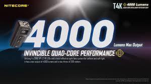 T4K - 4000 lumens – Nitecore Singapore