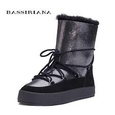 BASSIRIANA New 2017 genuine sheepskin suede warm <b>winter</b> ...