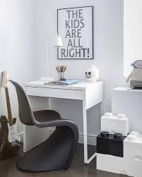 ikea micke desk in a kids roomwith unique chair minimalist design in white chic ikea micke desk white