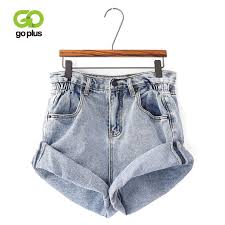 2019 <b>GOPLUS Summer Denim Shorts</b> Womens Vintage Crimping ...