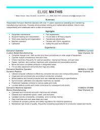 best extrusion operator resume example livecareer create my resume