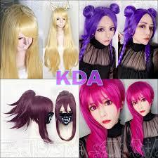 <b>Game Character LOL K/DA</b> Akali Evelynn Ahri Kaisa Hair KDA Heat ...