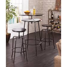 Kitchen Bar Table And Stools Amazoncom Holly Martin Kalomar 3pc Adjustable Pub Table