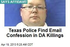 Texas Police Find Email Confession in DA Killings. Was sent from Eric Williams' computer, say authorities. (Newser) - Eric Williams was charged with capital ... - texas-police-find-email-confession-in-da-killings