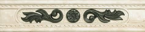 <b>Керамическая плитка Azulev</b> Noblesse ListeloNoblesseMarfil 5.7x25