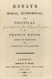 shelf lives  four centuries of collectors and their books    good advice for satan    s kingdom      the title page of francis bacon    s essays moral  economical  and political  london    annotated by the poet william
