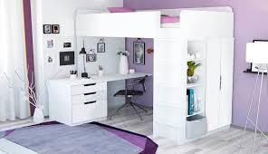 <b>Кровать</b>-<b>чердак Polini kids</b> Simple с письменным столом и шкафом