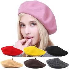 <b>Женщины</b> Зимняя мода шляпы теплая <b>шерсть</b> сладкий <b>берет</b> ...