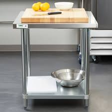 stainless kitchen work table: regency quot x quot  gauge  stainless steel commercial work table with