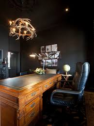 hawthorn home trendy home office photo in melbourne with black walls and a freestanding desk chic office ideas furniture dazzling executive office